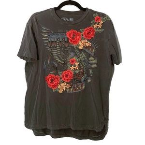 Affliction Live Fast Embroidered Graphic Tee
